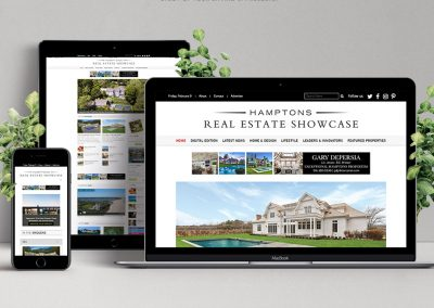 Real Estate Magazine Website with Advertising Integration