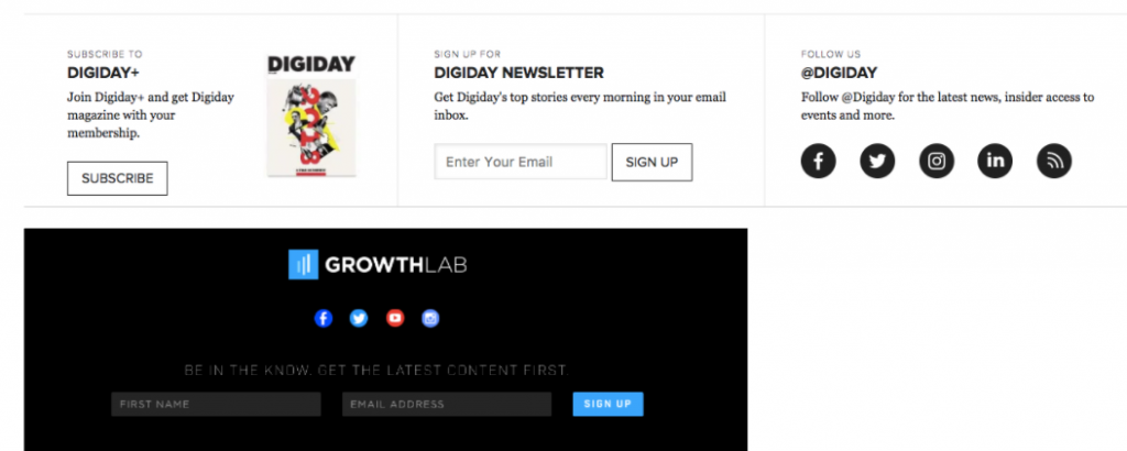 newsletter 8 1024x410 20 Clever Ways to Grow Your List of Email Subscribers