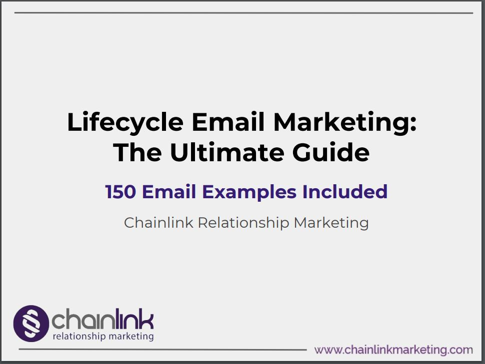 Chainlink Lifecycle Email Marketing E-Book