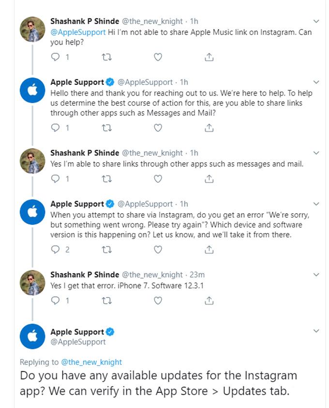 Twitter Customer Support Online Reputation Management - Apple
