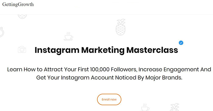 Landing Page Example - Instagram Growth Agency